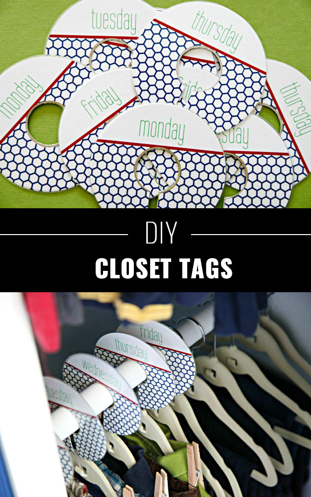 DIY Closet Organization Ideas for Messy Closets and Small Spaces. Organizing Hacks and Homemade Shelving And Storage Tips for Garage, Pantry, Bedroom., Clothes and Kitchen | Closet Tags #organizing #closets #organizingideas