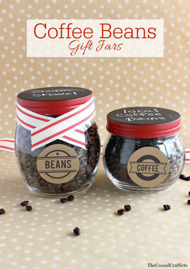 Mason Jar Valentine Gifts and Crafts   DIY Ideas for Valentines Day for Cute Gift Giving and Decor   Coffee Bean in a Jar Valentines Gift   #valentines