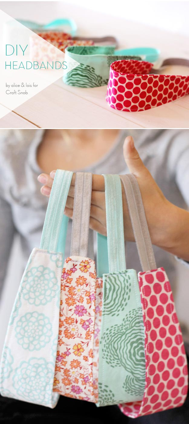 76 Crafts To Make and Sell - Easy DIY Ideas for Cheap Things To Sell on Etsy, Online and for Craft Fairs. Make Money with These Homemade Crafts for Teens, Kids, Christmas, Summer, Mother's Day Gifts.   Cute DIY Headbands #crafts #diy