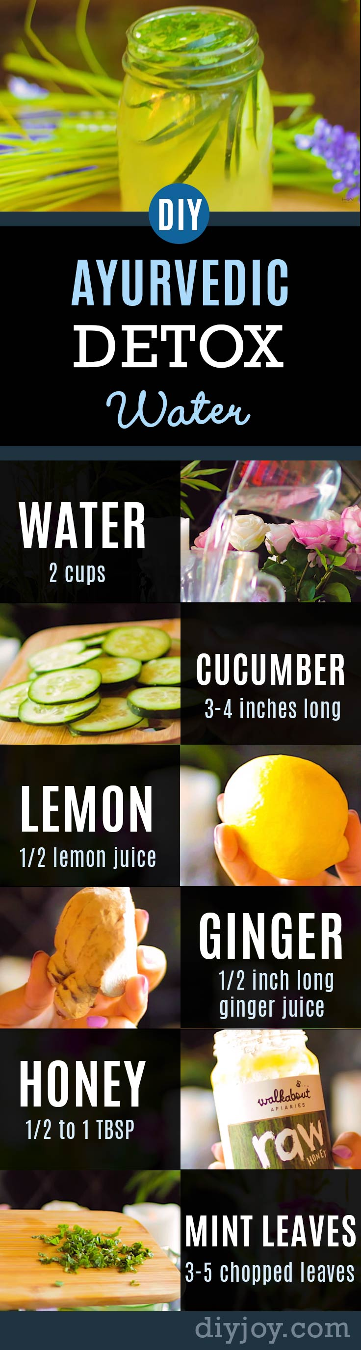 31 Detox Water Recipes for Drinks To Cleanse Skin and Body. Easy to Make Waters and Tea Promote Health, Diet and Support Weightloss | Ayurvedic Detox Water | Weight Loss, Clear Skin, Flat Belly, Anti-Aging Recipe | #detox #recipes #detoxwater #healthy