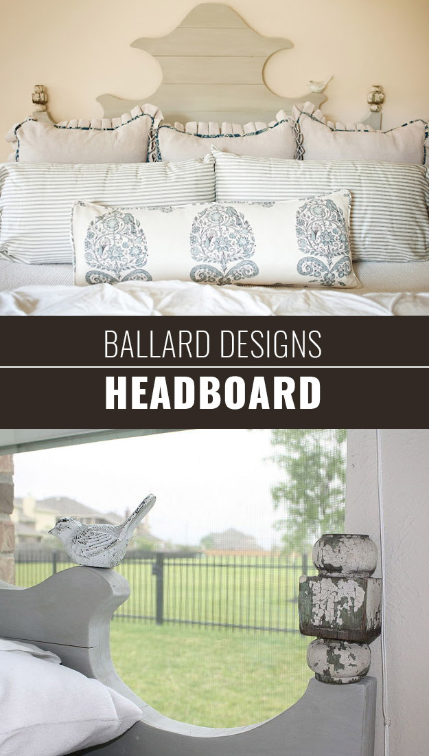 DIY Furniture Store KnockOffs - Do It Yourself Furniture Projects Inspired by Pottery Barn, Restoration Hardware, West Elm. Tutorials and Step by Step Instructions | DIY Ballard Designs Headboard #diyfurniture #diyhomedecor #copycats
