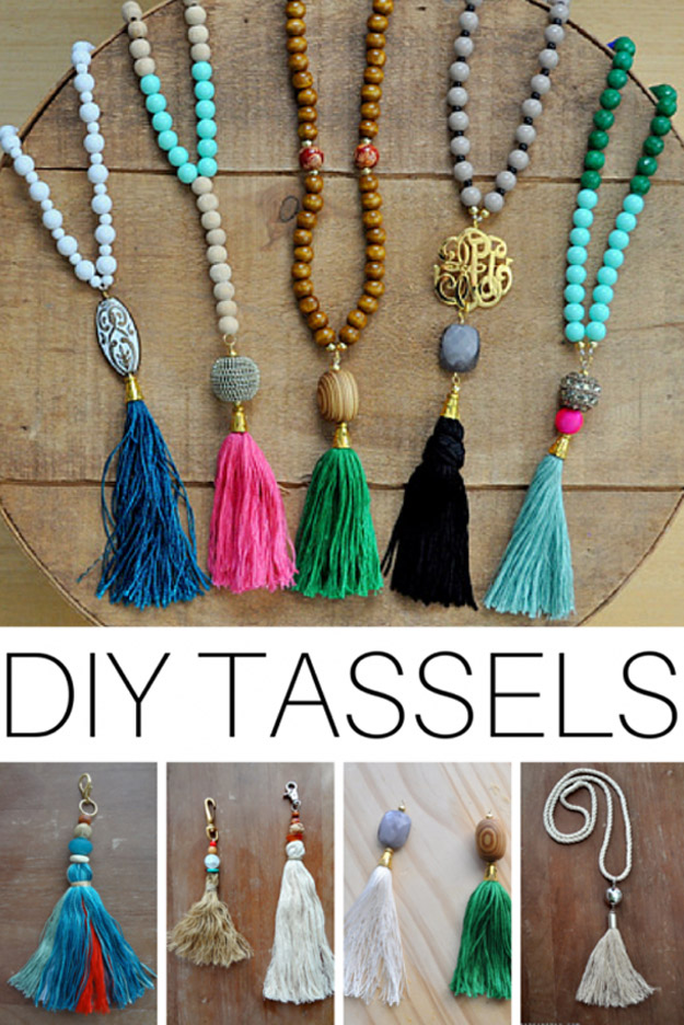 76 Crafts To Make and Sell - Easy DIY Ideas for Cheap Things To Sell on Etsy, Online and for Craft Fairs. Make Money with These Homemade Crafts for Teens, Kids, Christmas, Summer, Mother's Day Gifts. | DIY Beaded Tassle Necklaces #crafts #diy