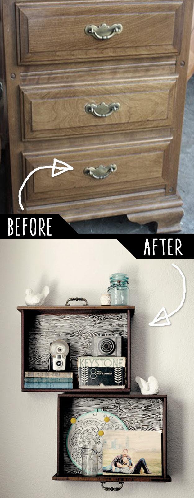 DIY Furniture Hacks | DIY Drawer Shelves | Cool Ideas for Creative Do It Yourself Furniture | Cheap Home Decor Ideas for Bedroom, Bathroom, Living Room, Kitchen #diy