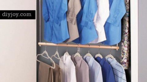 Organize Your Closet with More Hanging Space | DIY Joy Projects and Crafts Ideas