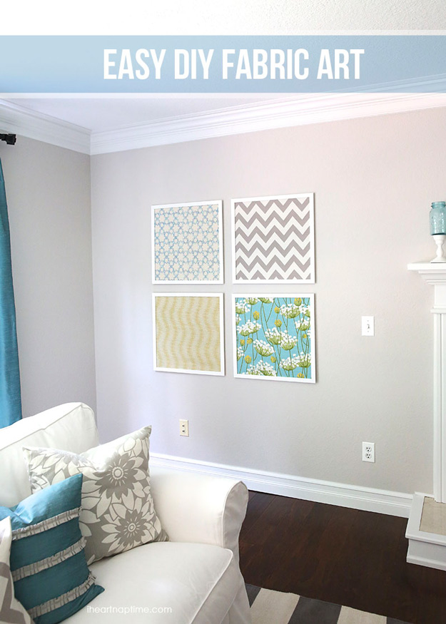 76 Crafts To Make and Sell - Easy DIY Ideas for Cheap Things To Sell on Etsy, Online and for Craft Fairs. Make Money with These Homemade Crafts for Teens, Kids, Christmas, Summer, Mother's Day Gifts. | DIY Fabric Wall Art #crafts #diy