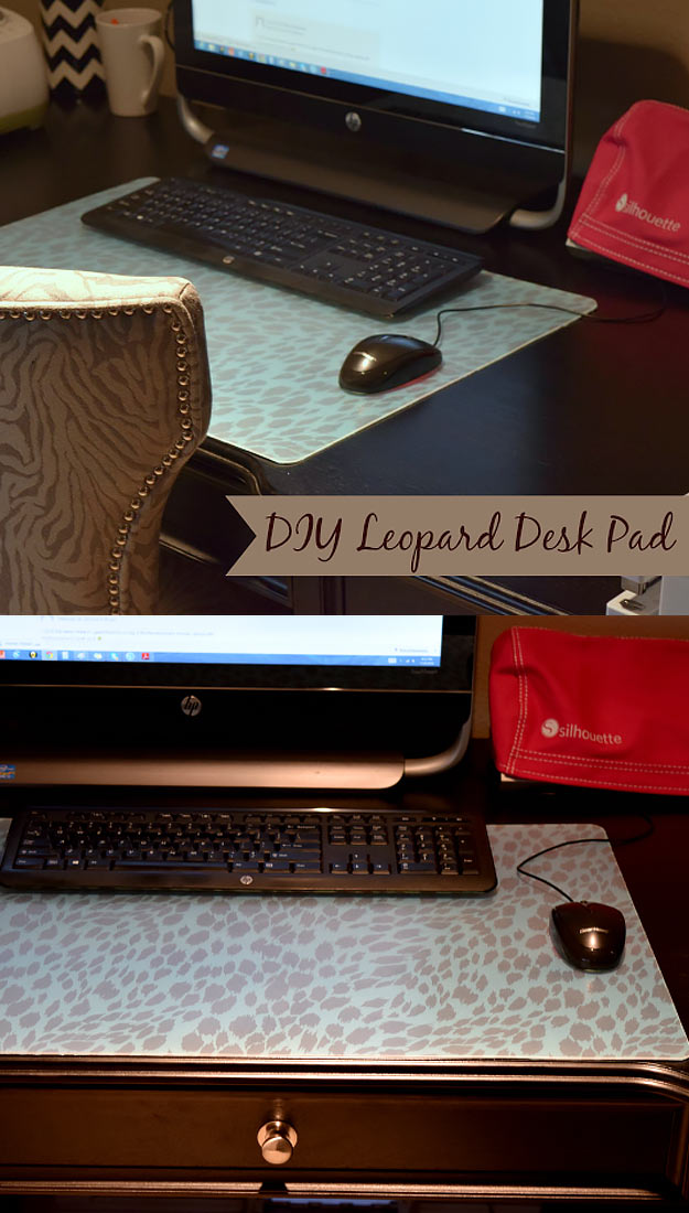 76 Crafts To Make and Sell - Easy DIY Ideas for Cheap Things To Sell on Etsy, Online and for Craft Fairs. Make Money with These Homemade Crafts for Teens, Kids, Christmas, Summer, Mother's Day Gifts. | DIY Leopard Desk Pad #crafts #diy