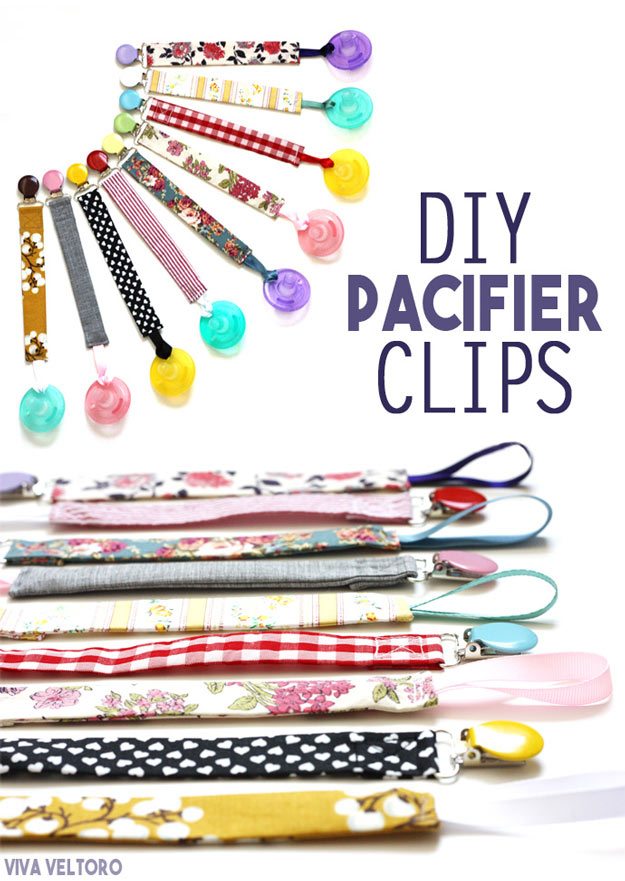 76 Crafts To Make and Sell - Easy DIY Ideas for Cheap Things To Sell on Etsy, Online and for Craft Fairs. Make Money with These Homemade Crafts for Teens, Kids, Christmas, Summer, Mother's Day Gifts.   DIY Pacifier Clips #crafts #diy