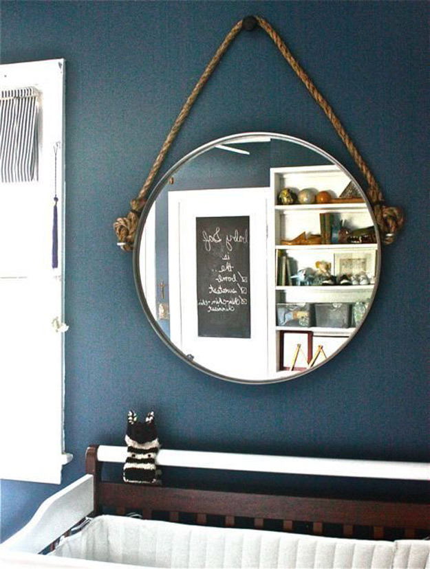 DIY Furniture Store KnockOffs - Do It Yourself Furniture Projects Inspired by Pottery Barn, Restoration Hardware, West Elm. Tutorials and Step by Step Instructions | DIY Rope Mirror Restoration Hardware Inspired IKEA Hack #diyfurniture #diyhomedecor #copycats