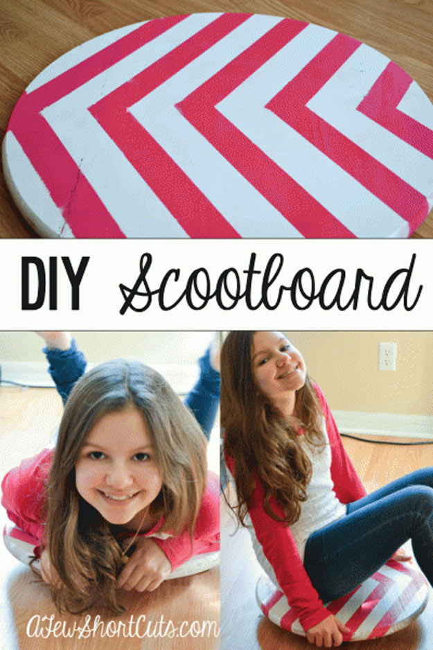 76 Crafts To Make and Sell - Easy DIY Ideas for Cheap Things To Sell on Etsy, Online and for Craft Fairs. Make Money with These Homemade Crafts for Teens, Kids, Christmas, Summer, Mother's Day Gifts.   DIY Scoot Board #crafts #diy