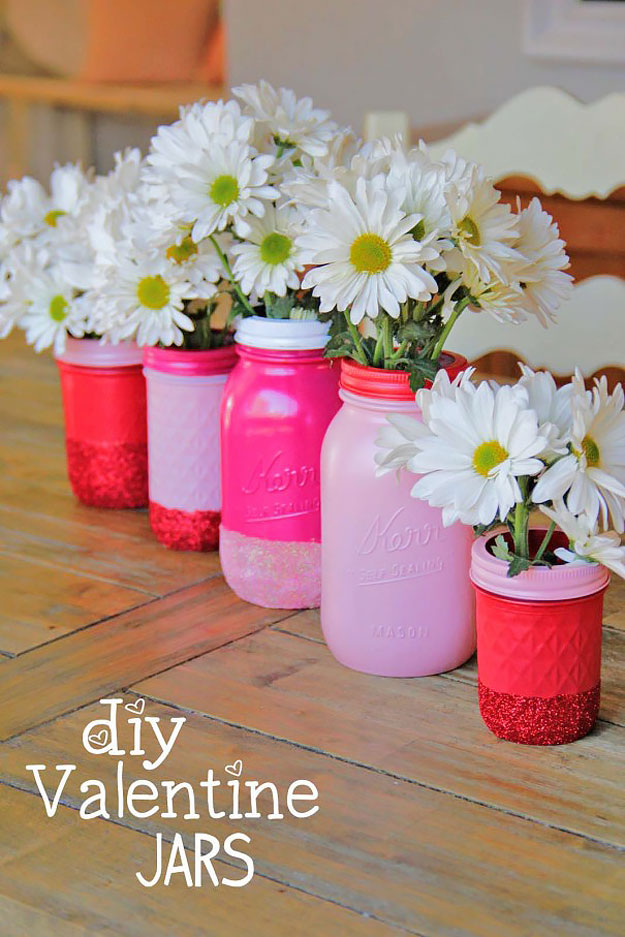 Mason Jar Valentine Gifts and Crafts   DIY Ideas for Valentines Day for Cute Gift Giving and Decor   DIY Valentine Jars   #valentines