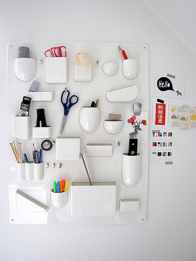 DIY Craft Room Ideas and Craft Room Organization Projects - DIY Wall Organizer for Crafts - Cool Ideas for Do It Yourself Craft Storage - fabric, paper, pens, creative tools, crafts supplies and sewing notions