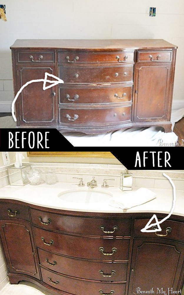DIY Furniture Hacks | Dresser into A Vanity | Cool Ideas for Creative Do It Yourself Furniture Made From Things You Might Not Expect  #diy