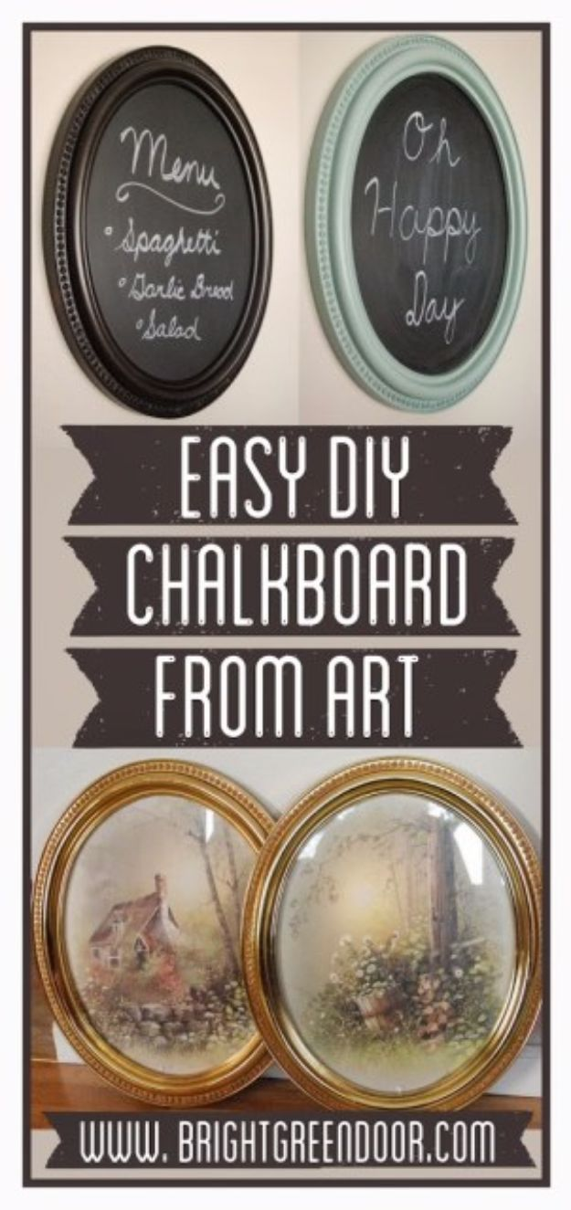 DIY Chalkboard Paint Ideas for Furniture Projects, Home Decor, Kitchen, Bedroom, Signs and Crafts for Teens. | Easy DIY Chalkboard Fom Framed Art
