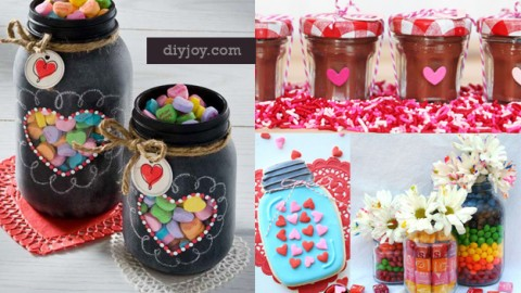 55 Mason Jar Valentine Gifts and Crafts   DIY Joy Projects and Crafts Ideas