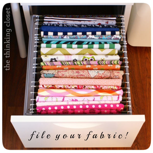 Sewing Hacks | Best Tips and Tricks for Sewing Patterns, Projects, Machines, Hand Sewn Items. Clever Ideas for Beginners and Even Experts | File and Organize your Fabric