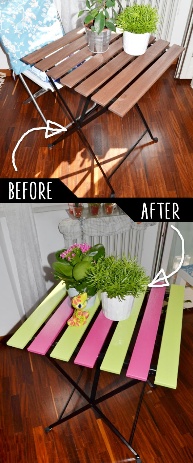 DIY Furniture Makeovers - Refurbished Furniture and Cool Painted Furniture Ideas for Thrift Store Furniture Makeover Projects   Coffee Tables, Dressers and Bedroom Decor, Kitchen   Garden Table Upgrade #diy #furnituremakeover #diyfurniture