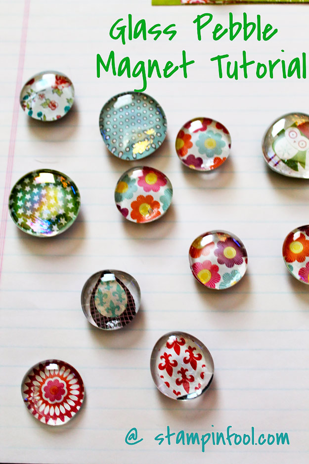 76 Crafts To Make and Sell - Easy DIY Ideas for Cheap Things To Sell on Etsy, Online and for Craft Fairs. Make Money with These Homemade Crafts for Teens, Kids, Christmas, Summer, Mother's Day Gifts.   Glass Pebble Magnet #crafts #diy