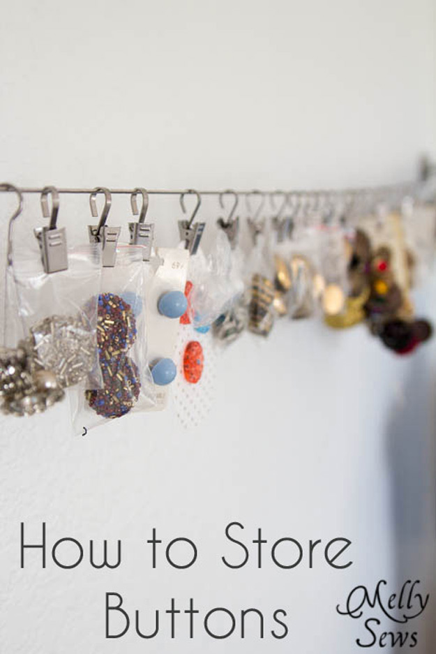 Sewing Hacks | Best Tips and Tricks for Sewing Patterns, Projects, Machines, Hand Sewn Items. Clever Ideas for Beginners and Even Experts | Helpful Tip on How to Store and Organize Your Buttons