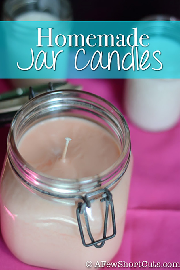 76 Crafts To Make and Sell - Easy DIY Ideas for Cheap Things To Sell on Etsy, Online and for Craft Fairs. Make Money with These Homemade Crafts for Teens, Kids, Christmas, Summer, Mother's Day Gifts.   Homemade Jar Candles #crafts #diy