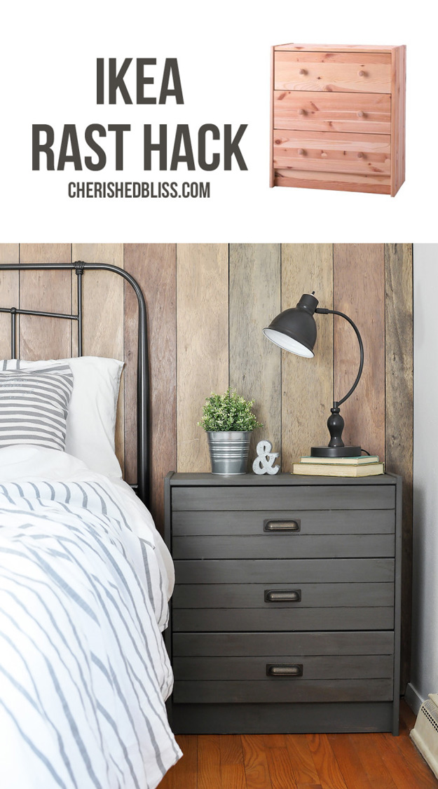 DIY Furniture Makeovers - Refurbished Furniture and Cool Painted Furniture Ideas for Thrift Store Furniture Makeover Projects   Coffee Tables, Dressers and Bedroom Decor, Kitchen   How to Fake a Plank Look #diy #furnituremakeover #diyfurniture