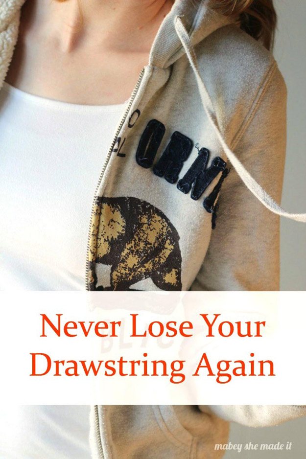 Sewing Hacks   Best Tips and Tricks for Sewing Patterns, Projects, Machines, Hand Sewn Items. Clever Ideas for Beginners and Even Experts   How to Fix Your Drawstring and Never Lose it Again