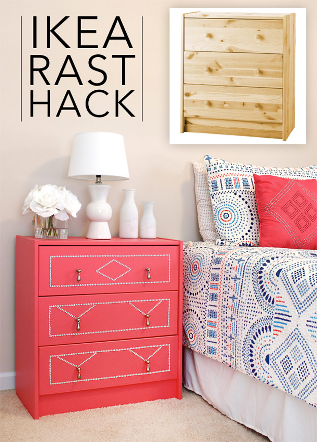 DIY Furniture Makeovers - Refurbished Furniture and Cool Painted Furniture Ideas for Thrift Store Furniture Makeover Projects | Coffee Tables, Dressers and Bedroom Decor, Kitchen | IKEA Rast Dresser Hack #diy #furnituremakeover #diyfurniture