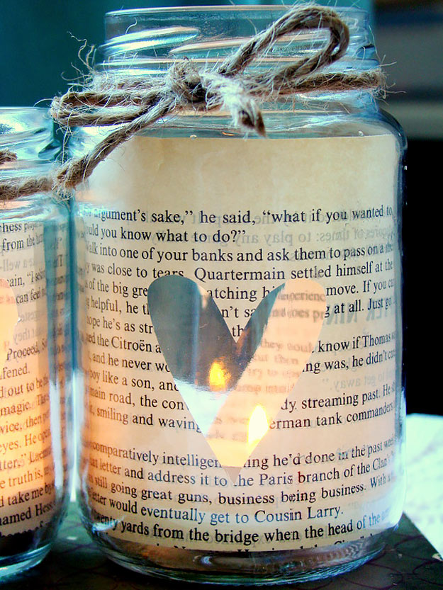 Mason Jar Valentine Gifts and Crafts   DIY Ideas for Valentines Day for Cute Gift Giving and Decor   Love Story Candle in a Bottle Valentine Lights   #valentines