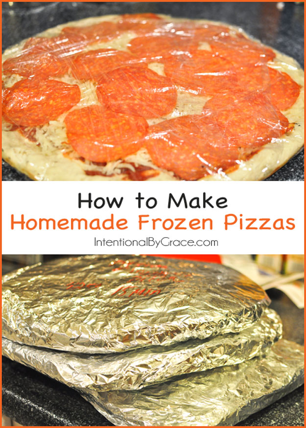 Coolest Cooking Hacks, Tips and Tricks for Easy Meal Prep, Recipe Shortcuts and Quick Ideas for Food | Make DIY Frozen Pizzas | http://cooking-tips-diy-kitchen-hacks