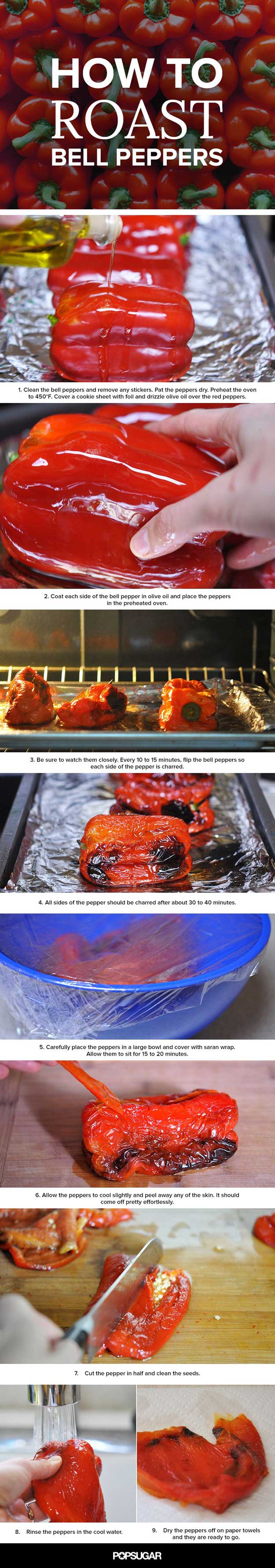 Coolest Cooking Hacks, Tips and Tricks for Easy Meal Prep, Recipe Shortcuts and Quick Ideas for Food |  Make Super Easy Roasted Peppers  | http://cooking-tips-diy-kitchen-hacks