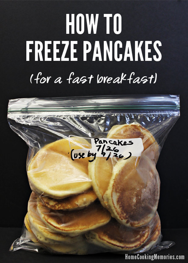 Coolest Cooking Hacks, Tips and Tricks for Easy Meal Prep, Recipe Shortcuts and Quick Ideas for Food |  Make and Freeze Pancakes  | http://cooking-tips-diy-kitchen-hacks