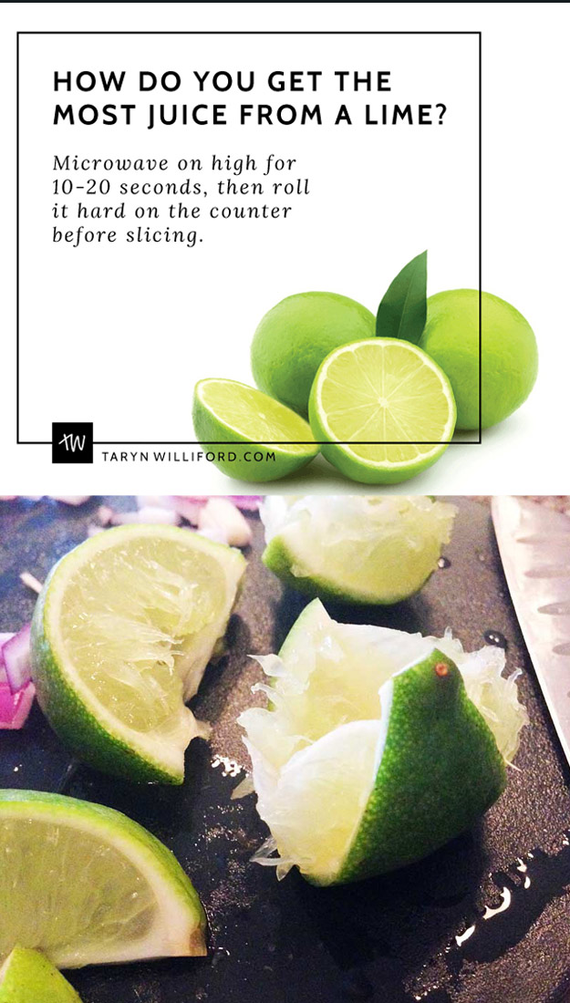Coolest Cooking Hacks, Tips and Tricks for Easy Meal Prep, Recipe Shortcuts and Quick Ideas for Food |  Microwave Lemons and Limes to Get Two Times the Juice  | http://cooking-tips-diy-kitchen-hacks