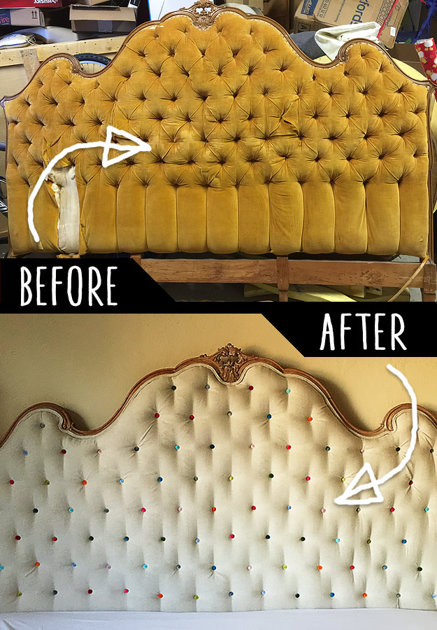 DIY Furniture Makeovers - Refurbished Furniture and Cool Painted Furniture Ideas for Thrift Store Furniture Makeover Projects   Coffee Tables, Dressers and Bedroom Decor, Kitchen   Old Headboard Makeover #diy #furnituremakeover #diyfurniture