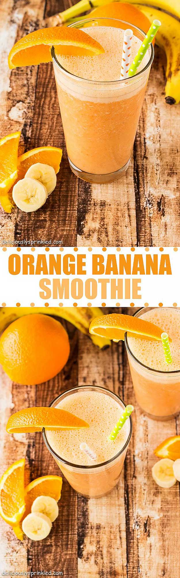 Healthy smoothie recipes and easy ideas perfect for breakfast, energy. Low calorie and high protein recipes for weightloss and to lose weight. Simple homemade recipe ideas that kids love. | Orange Banana Smoothie #smoothies #recipess