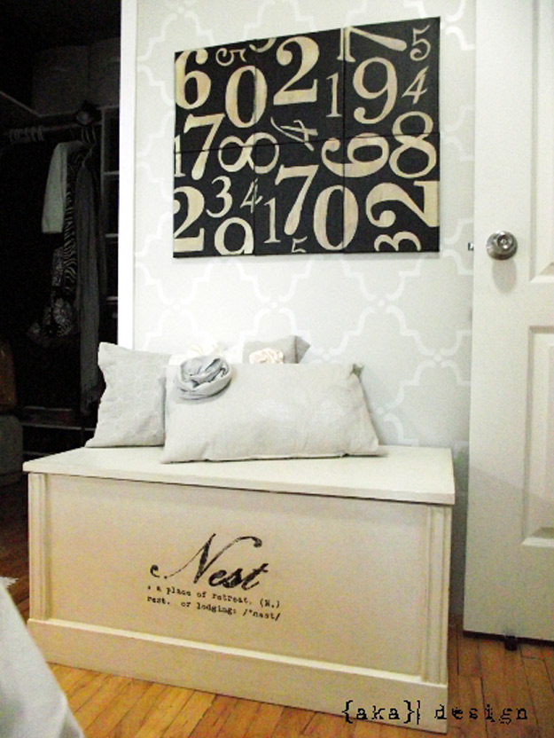 DIY Furniture Store KnockOffs - Do It Yourself Furniture Projects Inspired by Pottery Barn, Restoration Hardware, West Elm. Tutorials and Step by Step Instructions   Pottery Barn Inspired Numbers Canvas #diyfurniture #diyhomedecor #copycats