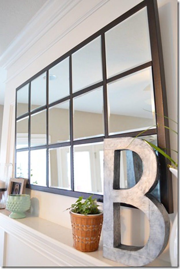 DIY Furniture Store KnockOffs - Do It Yourself Furniture Projects Inspired by Pottery Barn, Restoration Hardware, West Elm. Tutorials and Step by Step Instructions   Pottery Barn Knock-Off Mirror #diyfurniture #diyhomedecor #copycats
