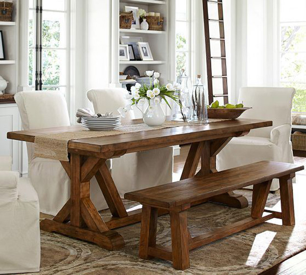 DIY Furniture Store KnockOffs - Do It Yourself Furniture Projects Inspired by Pottery Barn, Restoration Hardware, West Elm. Tutorials and Step by Step Instructions | Pottery Barn Knock Off Table #diyfurniture #diyhomedecor #copycats