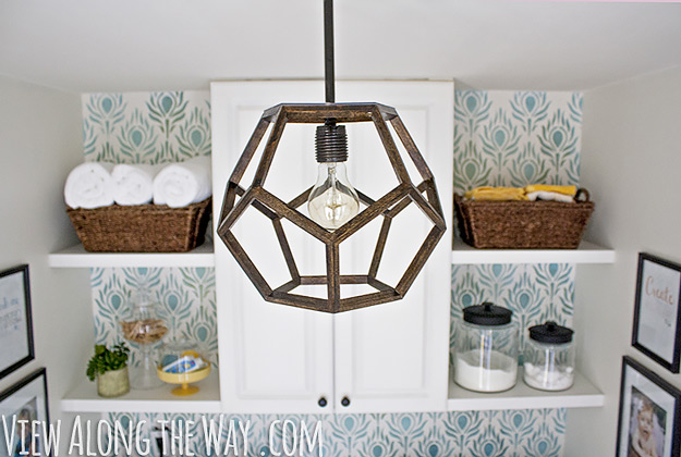 DIY Furniture Store KnockOffs - Do It Yourself Furniture Projects Inspired by Pottery Barn, Restoration Hardware, West Elm. Tutorials and Step by Step Instructions   Ralph Lauren Inspired DIY Dodecahedron Pendant Light #diyfurniture #diyhomedecor #copycats