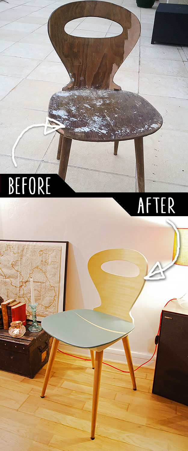 DIY Furniture Makeovers - Refurbished Furniture and Cool Painted Furniture Ideas for Thrift Store Furniture Makeover Projects | Coffee Tables, Dressers and Bedroom Decor, Kitchen | Refurbished Broken Chair #diy #furnituremakeover #diyfurniture