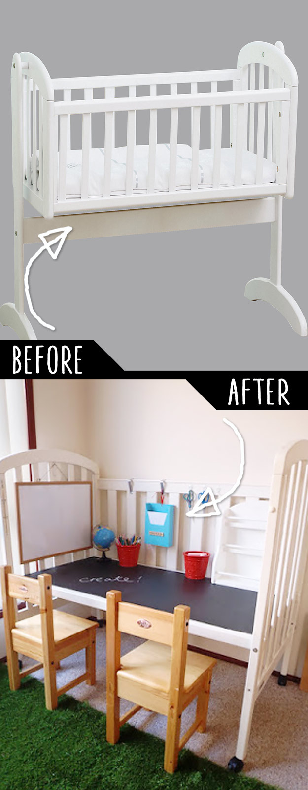DIY Furniture Hacks   Repurposed Cot   Cool Ideas for Creative Do It Yourself Furniture Made From Things You Might Not Expect #diy