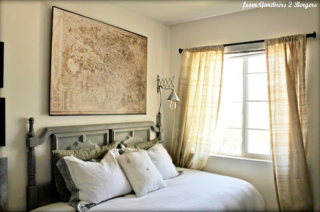DIY Furniture Store KnockOffs - Do It Yourself Furniture Projects Inspired by Pottery Barn, Restoration Hardware, West Elm. Tutorials and Step by Step Instructions | Restoration Hardware Decoupage Map #diyfurniture #diyhomedecor #copycats