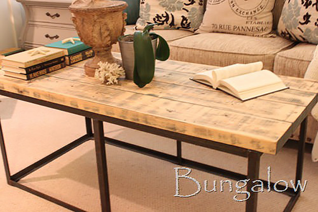 DIY Furniture Store KnockOffs - Do It Yourself Furniture Projects Inspired by Pottery Barn, Restoration Hardware, West Elm. Tutorials and Step by Step Instructions   Restoration Hardware coffee table DIY Knockoff #diyfurniture #diyhomedecor #copycats