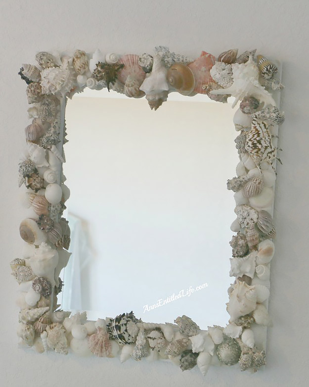 76 Crafts To Make and Sell - Easy DIY Ideas for Cheap Things To Sell on Etsy, Online and for Craft Fairs. Make Money with These Homemade Crafts for Teens, Kids, Christmas, Summer, Mother's Day Gifts.   Sea Shell Mirror #crafts #diy