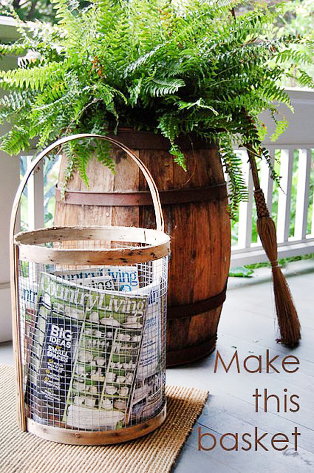 Cool DIY Furniture Ideas | Supercool Basket Copycatting Country Living Magazine |