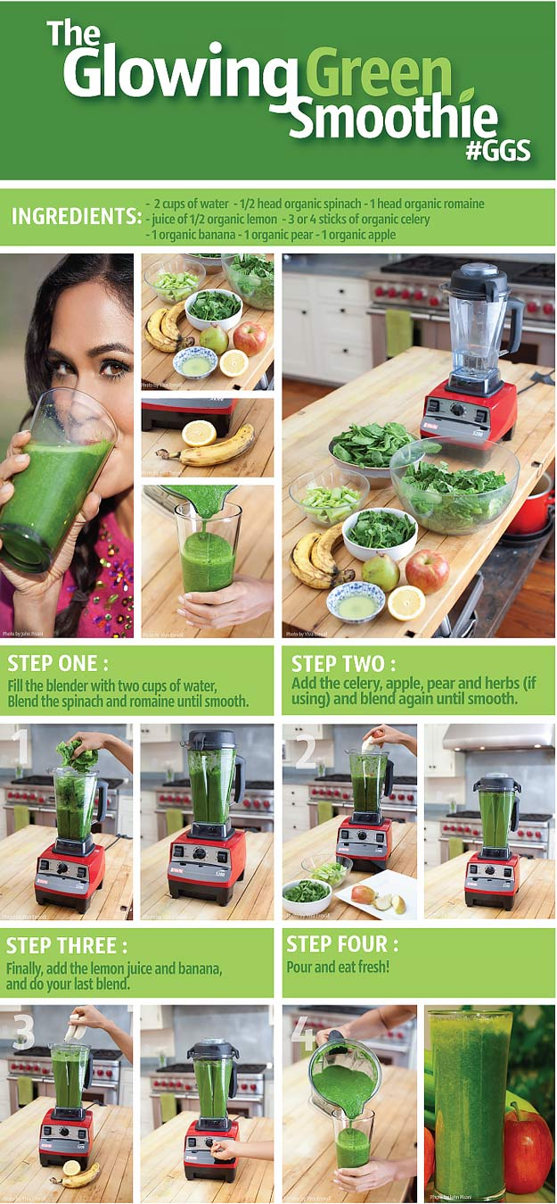 Healthy smoothie recipes and easy ideas perfect for breakfast, energy. Low calorie and high protein recipes for weightloss and to lose weight. Simple homemade recipe ideas that kids love. | The Glowing Green Smoothie Recipe | http://diyjoy.com/healthy-smoothie-recipes