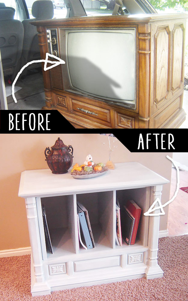 Diy Furniture Hacks Trash To Treasure Curb Side Tv Transformation Cool Ideas For Creative