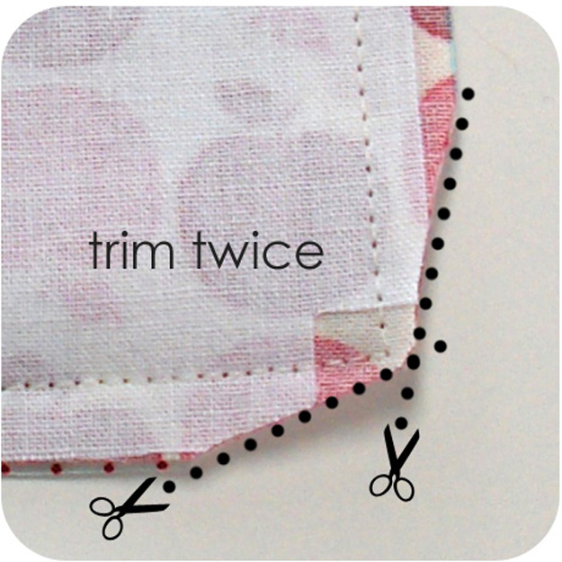 Sewing Hacks | Best Tips and Tricks for Sewing Patterns, Projects, Machines, Hand Sewn Items. Clever Ideas for Beginners and Even Experts | Trim Edges Of Your Corner Seams Before Turning Inside Out