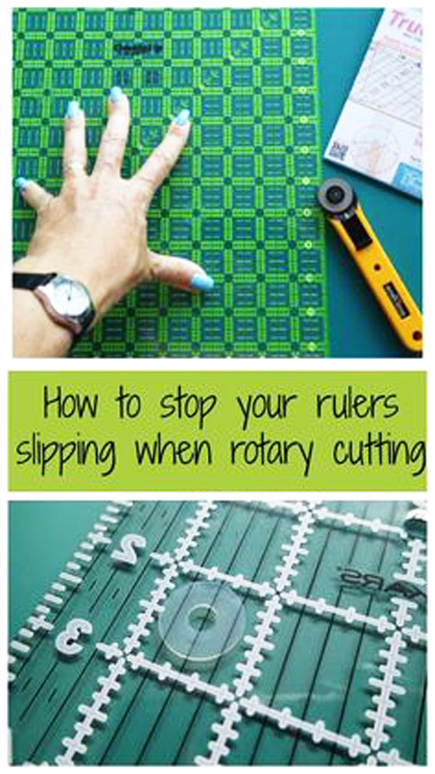 Sewing Hacks | Best Tips and Tricks for Sewing Patterns, Projects, Machines, Hand Sewn Items. Clever Ideas for Beginners and Even Experts | TrueGrips Non-slip pads for rulers