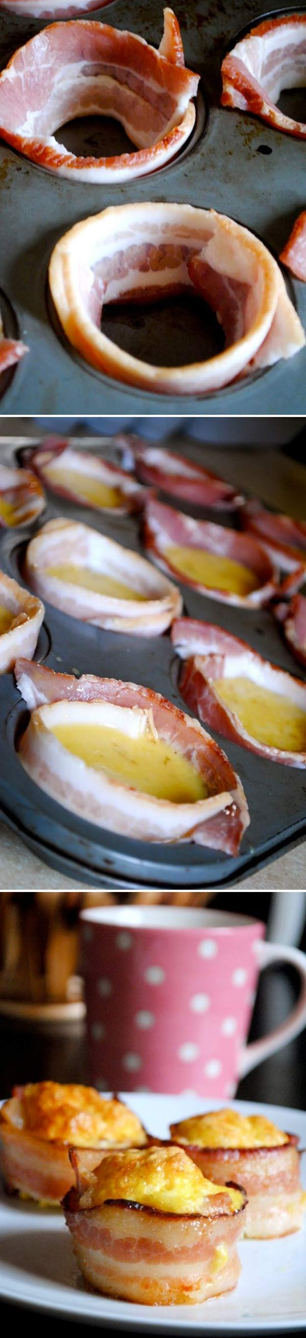 Coolest Cooking Hacks, Tips and Tricks for Easy Meal Prep, Recipe Shortcuts and Quick Ideas for Food |  Try Mini Bacon and Egg Cups  | http://cooking-tips-diy-kitchen-hacks