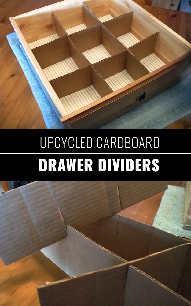 DIY Closet Organization Ideas for Messy Closets and Small Spaces. Organizing Hacks and Homemade Shelving And Storage Tips for Garage, Pantry, Bedroom., Clothes and Kitchen | Upcycled Cardboard Drawer Dividers #organizing #closets #organizingideas