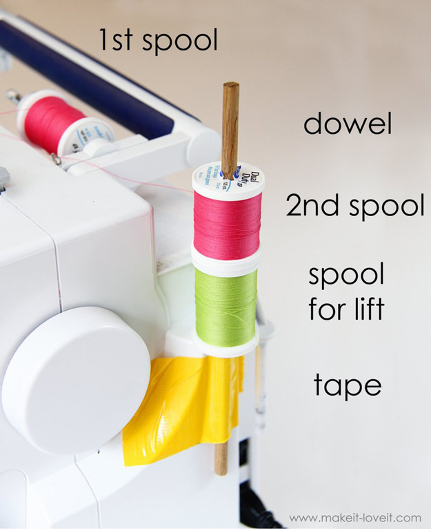 Sewing Hacks | Best Tips and Tricks for Sewing Patterns, Projects, Machines, Hand Sewn Items. Clever Ideas for Beginners and Even Experts | Using the Double Needle Without The 2nd Spool Holder